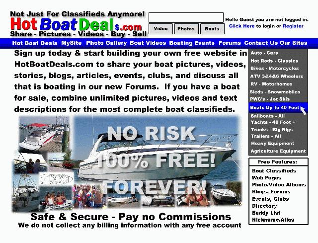 Front side of