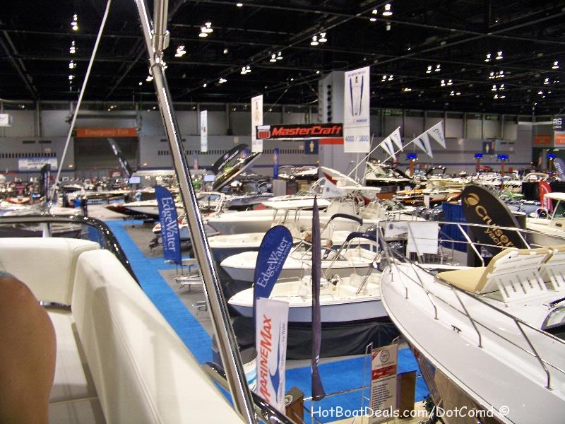 2013 Chicago Boat Show.  The show in my eyes was a bit of a disappointment.  I go to the shows to see the new technologies, new products, to buy new products, and to get ideas for my boat for refit products and resources to improve my boat.  At this show there are no big boats from Sea Ray, Bayliner, Rinker, Go Fast Boats, or any of the Italian boats.  They simply don't exist in some cases.  If you want a ski boat, fishing boat, or a small selection of the larger cruisers, go to the show.  Boat shows just aren't what they used to be.