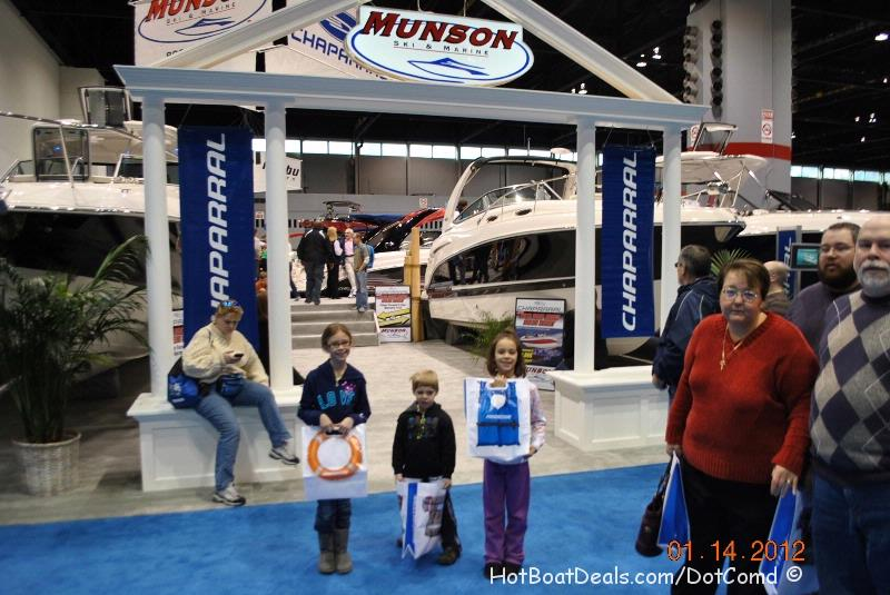 I did something daring today.  I took my three kids all by myself to the 2012 Chicago Boat & Rv show.  We only made it through the Chapparel and Formula Boats booths before my son had run off twice, hid inside of a boat compartment, and then declared that he was tired and wanted to go home.  I dragged him down the first isle and back through some other boats and left.  We weren't there but for a couple of hours.  STRESSFULL!
