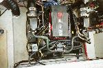 Engine Compartment - <p>No oil/fluid leaks.&nbsp; Everything is fully operational.&nbsp; Hours on the engine are estimated at 500.&nbsp; FWC and has never seen salt or brackish water.&nbsp; Strong running engine and shooth shifting drive that I would not hesitate to go anywhere.&nbsp; New thermostat, hoses, plugs, wires, and marina mechanic checked each year.</p>