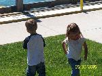 Ellie and brayden at the Kenosha Yacht Club