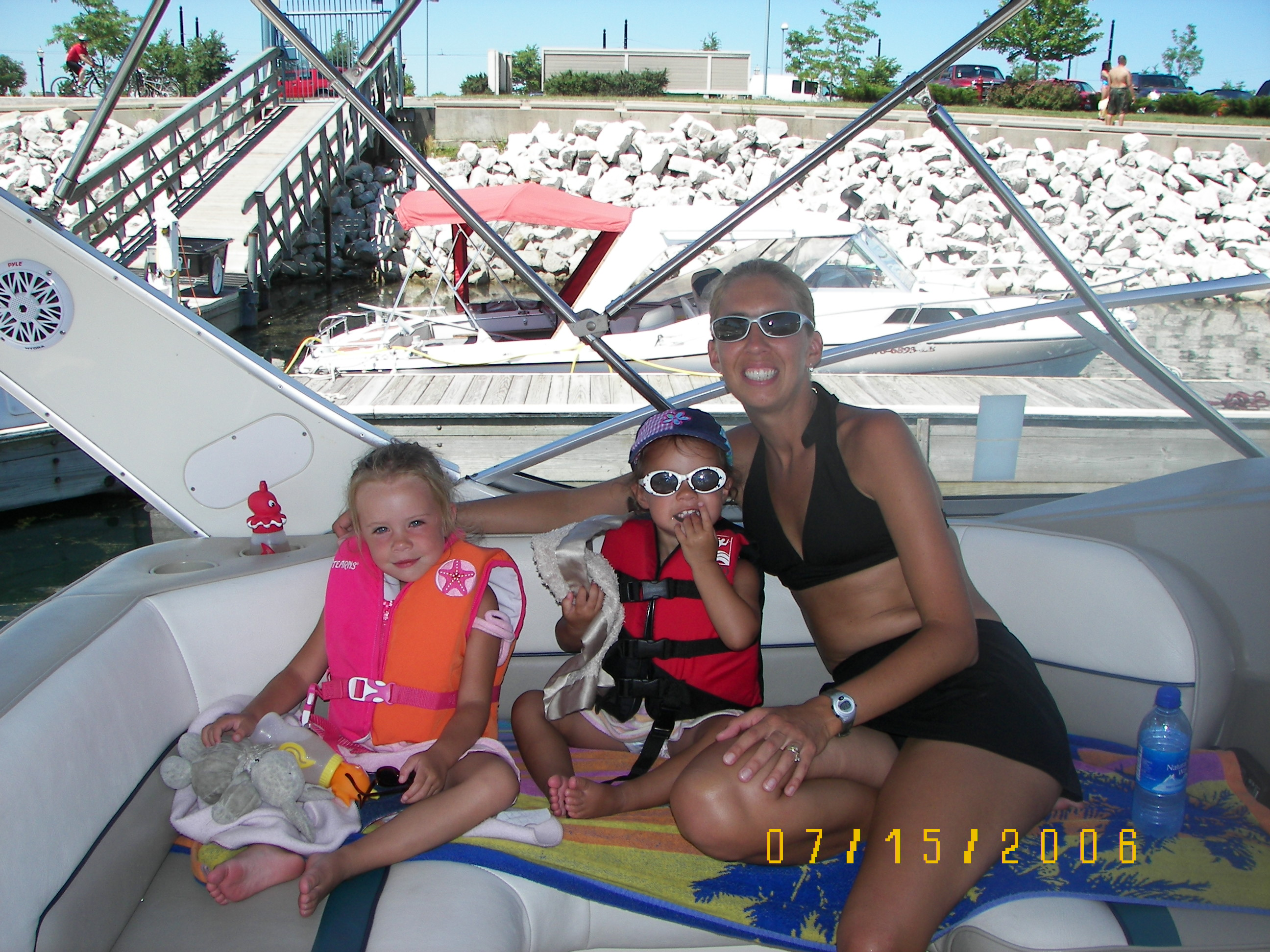 This was ellie Meg and tracy on the boat in Kenosha.