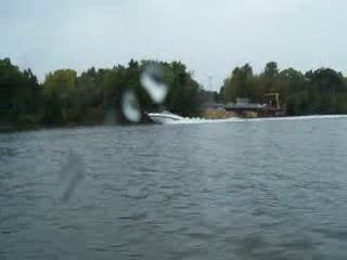 Watching a boat pulling a tube and crossing his wake from:DotComd