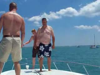 John, Dan and I jumping in off the bow from:DotComd