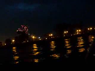 Fireworks show from south of Montrose Harbor from:DotComd