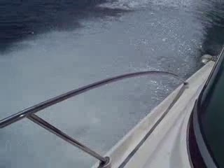 Just in front of the steering wheel on the bow from:DotComd