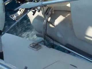 I was watching the davit mounts flex as the boat bounced... from:DotComd
