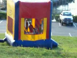 They even had a bouncy for the kids! from:DotComd