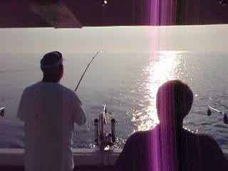 Fishing on Lake Michigan from:kernsypoo